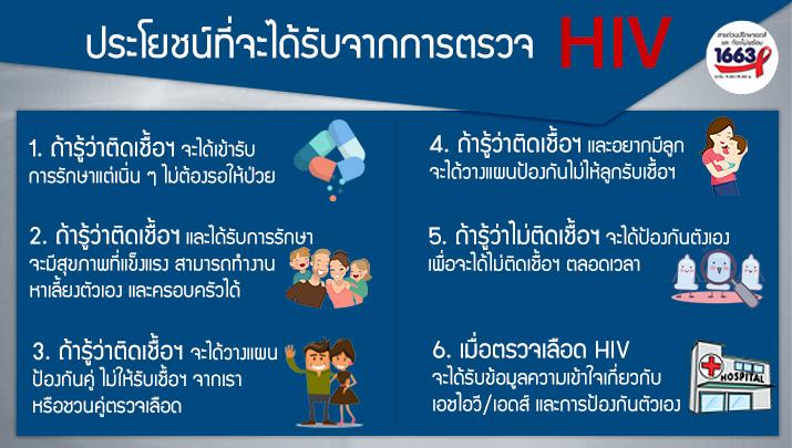 ประโยชน์ของการตรวจ hiv